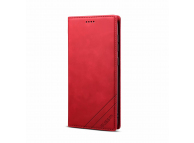 Husa Piele OEM Skin Feel Magnetic pentru Samsung Galaxy A20e, cu suport carduri, Rosie