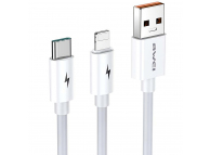 Cablu Date si Incarcare USB - Lightning / USB Type-C Awei CL-79, 1.2 m, Alb, Blister