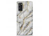 Husa TPU OEM Gilt Marble pentru Samsung Galaxy S20 FE G780, Gri
