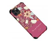 Husa TPU OEM Flower pentru Apple iPhone 12 Pro Max, Tender, Roz, Bulk