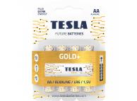 Baterie Tesla Batteries Gold+, AA / LR6 / 1.5V, set 4 bucati, Alcalina