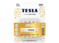 Baterie Tesla Batteries Gold+, AAA / LR03 / 1.5V, set 4 bucati, Alcalina