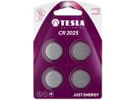 Baterie Tesla Batteries CR2025, Set 4 bucati, Litium, 3V