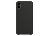 Husa TPU OEM Pure Silicone pentru Apple iPhone 12 Pro Max, Neagra, Blister