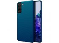 Husa Plastic Nillkin Super Frosted pentru Samsung Galaxy S21+ 5G, Peacock Blue, Albastra, Blister