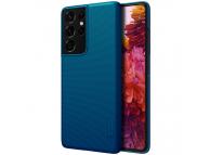 Husa Plastic Nillkin Super Frosted pentru Samsung Galaxy S21 Ultra 5G, Peacock Blue, Albastra, Blister