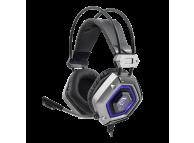 Casti Gaming WHITE SHARK GH-1841 LION, cu microfon, USB, 32 ohm, Negre, Blister