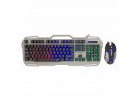 Kit Tastatura Mouse Wireless WHITE SHARK GMK-1901 APACHE-2, Negru-Gri, Blister