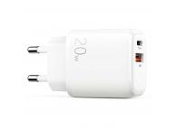 Incarcator Retea USB Joyroom LG3028E3, 1 X USB - 1 X USB Tip-C, Quick Charge, 20W, Alb