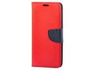 Husa Piele OEM Fancy pentru Samsung Galaxy A20e, Rosie
