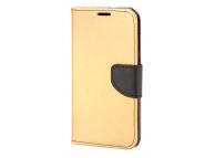 Husa Piele OEM Fancy pentru Samsung Galaxy A20e, Aurie Neagra