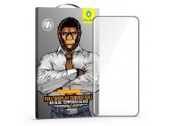 Folie Protectie Ecran Mr. Monkey Glass pentru Samsung Galaxy S20 Ultra G988, Sticla securizata, Full Face, Full Glue (AB), 5D, Neagra, Blister