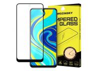 Folie Protectie Ecran WZK pentru Xiaomi Redmi Note 9 Pro / Xiaomi Redmi Note 9S, Sticla securizata, Full Face, Full Glue, Neagra, Blister