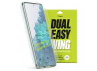 Folie Protectie Ecran Ringke Dual Easy pentru Samsung Galaxy S20 FE 5G, Plastic, Full Face, Set 2 Bucati, Blister DWSG0014