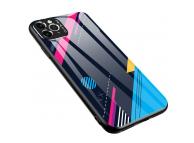 Husa TPU OEM Color Glass4 pentru Apple iPhone 11 Pro Max, cu spate din sticla, Multicolor, Bulk