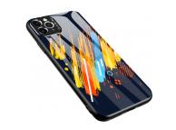 Husa TPU OEM Color Glass5 pentru Apple iPhone 11 Pro Max, cu spate din sticla, Multicolor