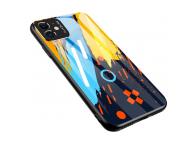 Husa TPU OEM Color Glass1 pentru Huawei P30 lite, cu spate din sticla, Multicolor