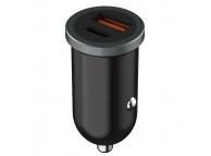 Incarcator Auto USB Onda CZ07, 1 X USB - 1 X USB Tip-C, Quick Charge, 30W, Negru