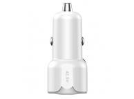 Incarcator Auto USB Totu Design DCCPD-07, 1 X USB - 1 X USB Tip-C, Quick Charge, 42.5W, Alb