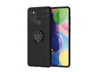 Husa TPU Lenuo Invisible Holder pentru Samsung Galaxy A21s, Neagra