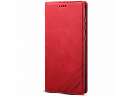 Husa Piele OEM Skin Feel Magnetic pentru Samsung Galaxy S20 FE G780, cu suport carduri, Rosie