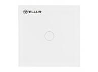 Intrerupator Tellur Smart Switch, WiFi, 1 Port, Control Tactil, 1800W, 10A, TLL331041, Alb, Resigilat, Blister