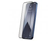 Folie Protectie Ecran Baseus pentru Apple iPhone 12 Pro Max, Sticla securizata, Full Face, Full Glue, Set 2buc, 0.25mm, Neagra, Blister SGAPIPH67N-KC01