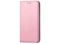 Husa Piele OEM Smart Magnetic pentru Xiaomi Redmi Note 9 Pro / Xiaomi Redmi Note 9S, Roz Aurie, Bulk