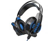 Casti Gaming HOCO W102 Cool, cu microfon, 3.5 mm , USB, Negre Albastre, Blister