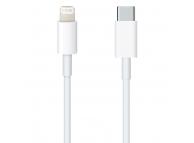 Cablu Date si Incarcare USB Type-C la Lightning OEM, 1 m, Alb, Bulk