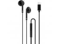 Handsfree Casti In-Ear XO Design EP29, Cu microfon, USB Type-C, Negru