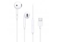 Handsfree Casti EarBuds Oppo MH135, Cu microfon, USB Type-C, Alb