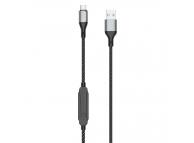 Cablu Date si Incarcare USB la USB Type-C Dudao L7xsT, 1 m, cu Timer Incarcare 1-5h, 5A, Negru, Blister