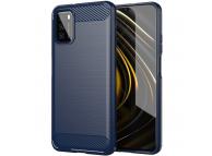 Husa TPU OEM Carbon pentru Xiaomi Poco M3, Bleumarin