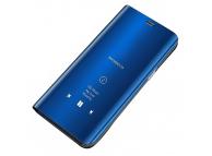 Husa Plastic OEM Clear View pentru Samsung Galaxy A12 A125, Albastra, Blister