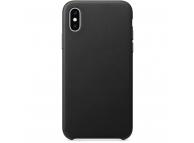 Husa Piele OEM Eco Leather pentru Apple iPhone 7 Plus / Apple iPhone 8 Plus, Neagra, Blister