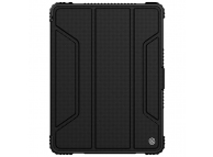 Husa Tableta Plastic - Poliuretan - TPU Nillkin Bumper pentru Apple iPad 9.7 (2018) / Apple iPad 9.7 (2017), Neagra, Blister
