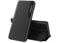 Husa Piele OEM Eco Leather View pentru Samsung Galaxy A72 5G, cu suport, Neagra