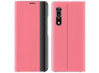 Husa Plastic - Textil OEM New Sleep Case pentru Samsung Galaxy A11 / Samsung Galaxy M11, Cu Suport, Roz, Bulk