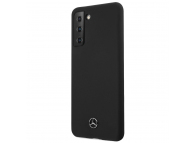 Husa TPU MERCEDES Silicone pentru Samsung Galaxy S21 5G, Neagra MEHCS21SSILBK