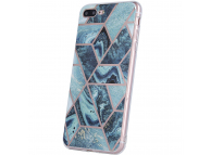 Husa TPU OEM Geometric Marmur pentru Samsung Galaxy A42 5G, Albastra