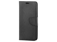 Husa Piele OEM Fancy pentru Motorola Moto G9 Play, Neagra