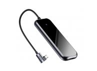 Hub USB Baseus Harmonica, 5in1 (Type-C to 2x USB3.0 / TF / SD / Typ C), Gri, Blister CAHUB-K0G