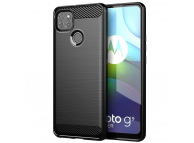 Husa TPU OEM Carbon pentru Motorola Moto G9 Power, Neagra, Bulk