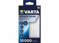 Baterie Externa Powerbank Varta Energy, 10000 mA, Standard Charge (5V), Alba Gri