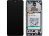 Display - Touchscreen Samsung Galaxy A72 4G, Cu Rama, Albastru GH82-25541B