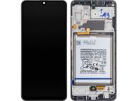 Display - Touchscreen Samsung Galaxy A32 LTE A325, Cu Rama si Acumulator, Negru GH82-25611A