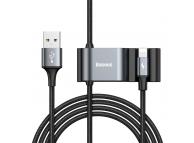 Hub USB Baseus Backseat USB - Lightning + 2x USB, Negru, Blister CALHZ-01