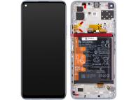 Display - Touchscreen Huawei P40 lite 5G, Cu Rama, Acumulator si piese, Argintiu 02353SUQ