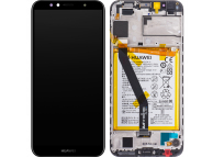 Display - Touchscreen Huawei Y6 (2018), Cu Rama, Acumulator si piese, Negru 02351WLJ